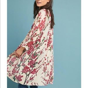 NWT Velvet cherry blossom kimono by Floreat